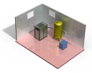 Air compressor location
