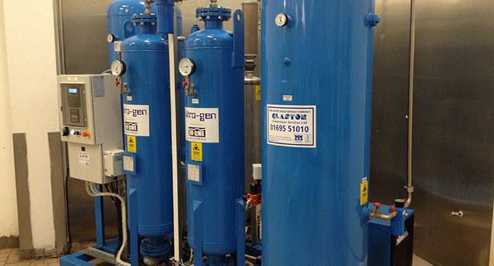 Nitrogen generators from Glaston Compressor Services
