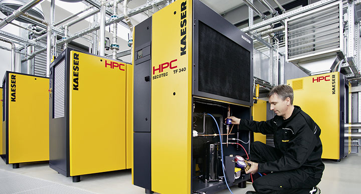 HPC Secotec TF 340 energy saving refrigerant dryers from Glaston Compressor Services