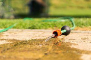 Air compressor to a garden hose