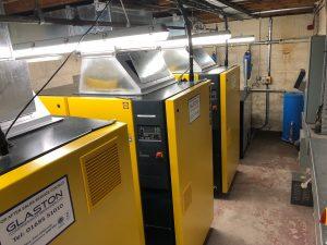 Air compressor installation services